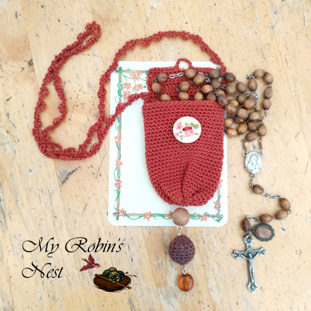 Always There Rosary Pouch (Rust)