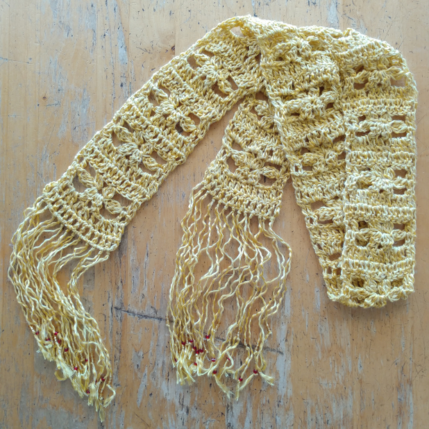 Flowers on the Fence Skinny Scarf