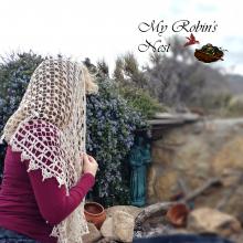 Mary's Garden Veil in Ecru (off white)